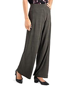 Petite Textured Palazzo Pants, Created for Macy's