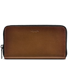 Men's Leather Zip Accordion Wallet
