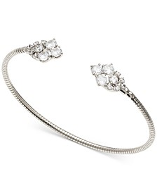Cubic Zirconia Cluster Flexible Cuff Bracelet, Created for Macy's