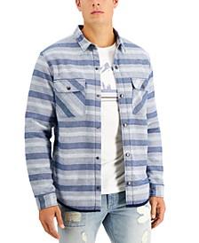 Men's Kelly Fleece-Lined Striped Shirt Jacket, Created for Macy's