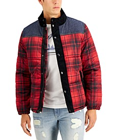 Men's Earl Colorblocked Plaid Jacket, Created for Macy's