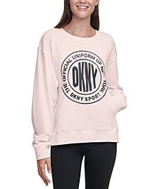 DKNY Sport Acid-Washed Logo Sweatshirt