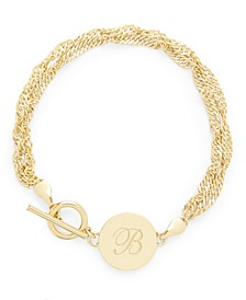 14K Gold Plated Sophie Initial Toggle Bracelet
