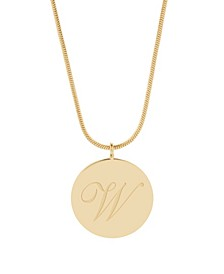 14K Gold Plated Wren Initial Pendant Necklace