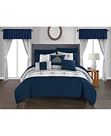 Emily 20 Piece Queen Bed In a Bag Comforter Set