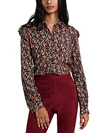 Ruffled Floral-Print Shirt, Created for Macy's
