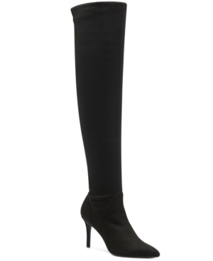 The line on sleek style just got defined by Jessica Simpson\\\'s Arbrine over-the-knee boots that sizzle from pointed toes up to a sky-high silhouette.