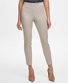 Stretch-Knit Pull-On Skinny-Fit Ankle Pants