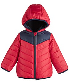 Baby Boys Colorblock Puffer, Created for Macy's
