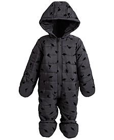 Baby Boys Flocked Snowsuit, Created for Macy's