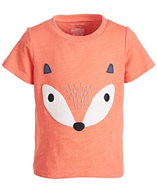 Baby Boys Short Sleeve Fox Face Tee, Created for Macy's