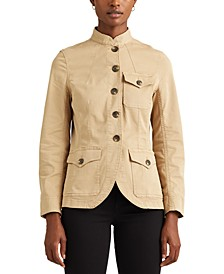 Plus-Size Stretch-Cotton Chino Jacket