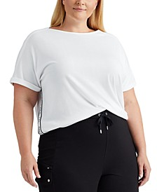 Plus Size Boatneck Top
