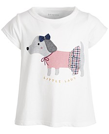 Baby Girls Short Sleeve Lady Dog Tee, Created for Macy's