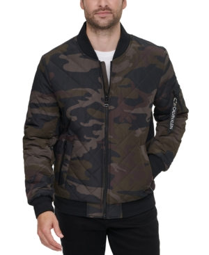 Calvin Klein Men's Quilted Baseball Jacket