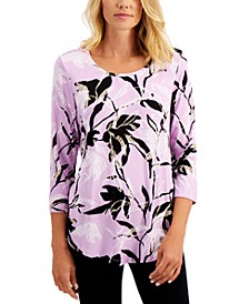 Lotus Tropical-Print Top, Created for Macy's