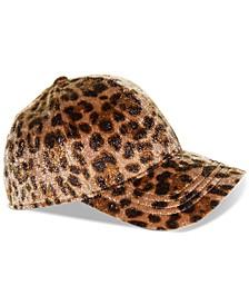 Faux-Calf-Hair Baseball Cap