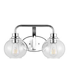 Sandrine 2-Light Cottage Rustic LED Vanity Light