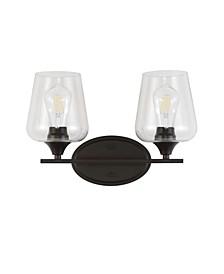 Jayne 2-Light Cottage Rustic LED Vanity Light