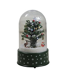 Pre-Lit Musical and Animated Christmas Tree Snow Globe Glitterdome