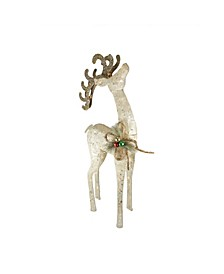 Pre-Lit Sisal Reindeer Outdoor Christmas Decoration
