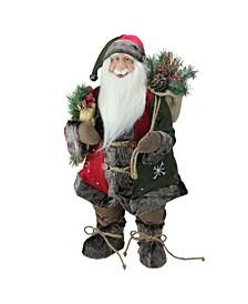 Standing Santa Claus Christmas Figurine with Snowflake Jacket