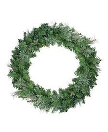 Unlit Mixed Cashmere Pine Artificial Christmas Wreath