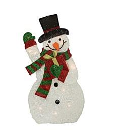 Lighted Waving Snowman Outdoor Christmas Decor