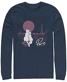 Aristocats Together in Paris Men's Long Sleeve Crew Neck T-shirt