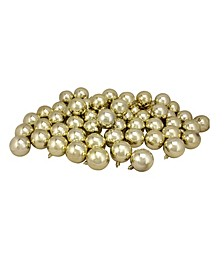 60 Count Shatterproof Shiny Christmas Ball Ornaments