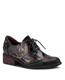 Women's Elvie Snake Print Oxfords
