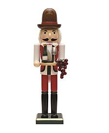 Wooden Winemaker Christmas Nutcracker with Grapes