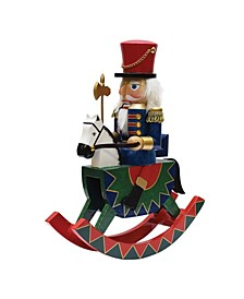 Christmas Nutcracker Soldier On Rocking Horse