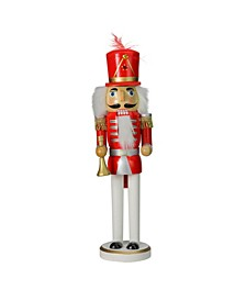Wooden Christmas Nutcracker with Horn