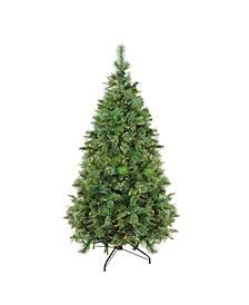 Pre-Lit Full Ashcro Cashmere Pine Artificial Christmas Tree Dura-Lit Lights