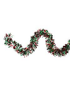 Unlit Snowblush Wide Cut Artificial Christmas Garland