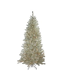 Metallic Sheer Champagne Artificial Tinsel Christmas Tree