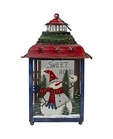 Snowman Christmas Candle Lantern