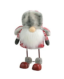 Nordic Trapper Hat Bouncy Gnome Table Top Christmas Decoration