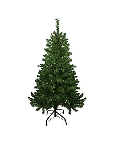 Pre-Lit Mixed Classic Pine Medium Artificial Christmas Tree-Warm Clear LED Lights
