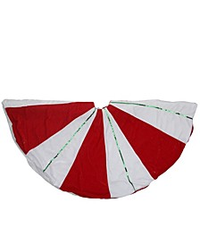 Peppermint Twist Stripes Christmas Tree Skirt