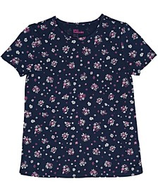 Toddler & Little Girls Floral All Over Print Basic Knit Tee