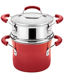 Nonstick 3-Qt. Saucepot and Steamer Set