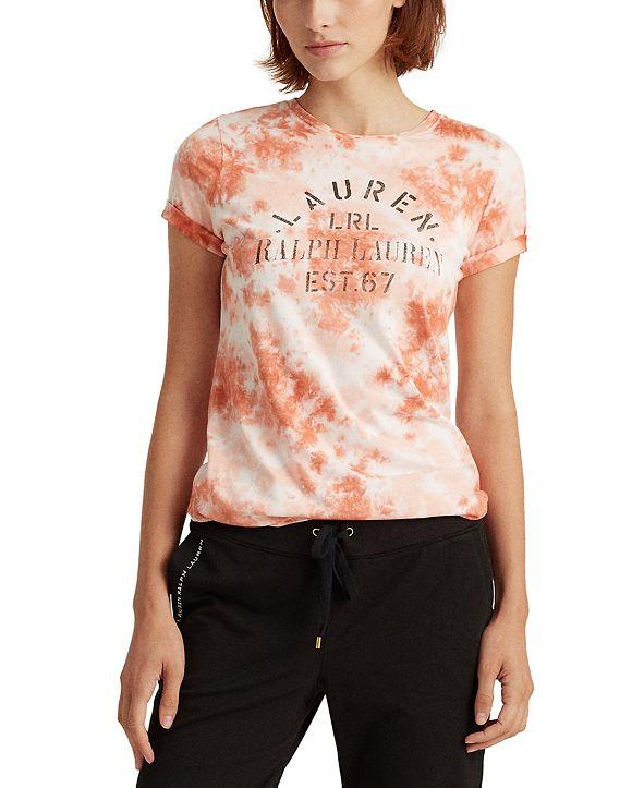 Lauren Ralph Lauren Tie-dye Vintage-Inspired Signature Logo Top
