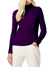Mock-Neck Knit Sweater
