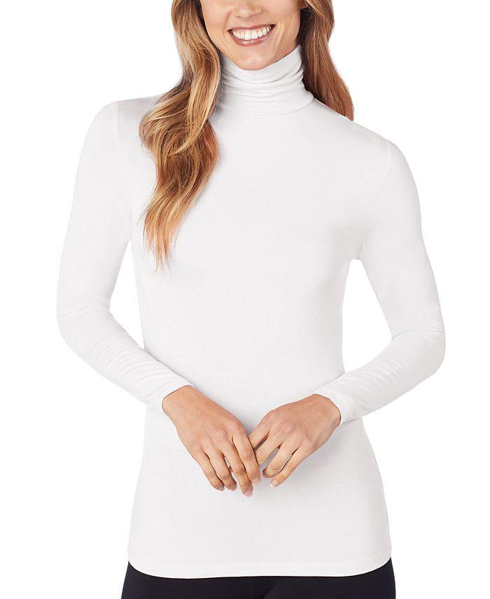 Cuddl Duds - Petite Softwear Long-Sleeve Turtleneck Top