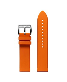 Men's Flat Edged Orange Rubber Strap 22mm