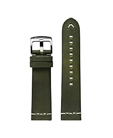 Men's Marino Olive Leather Strap 22mm