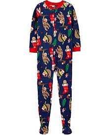 Big Boy1-Piece Christmas Fleece Footie PJs