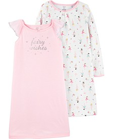 Big Girl  2-Pack Fairy Nightgowns